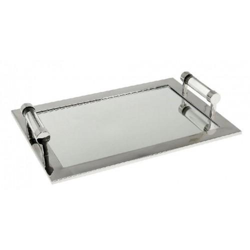 Ορθογ. Δίσκος Μεταλλικός Χρώμιο Με Καθρέπτη. 40Χ25ΕΚ. MR15468 ESPIEL