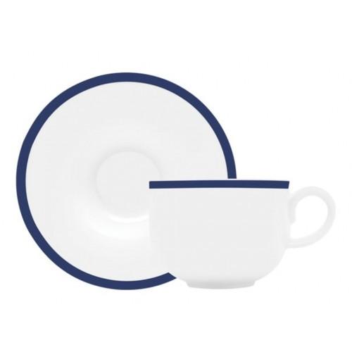 Φλιτζάνι/Πιατάκι Καφέ Πορσελάνη 75ml. Σετ 6 Τεμ., Mediterraneo, ΙΩΝΙΑ