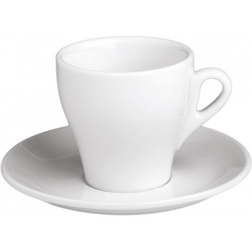 Πιατάκι Κωνικών Φλυτζανιών Cappuccino 14εκ.  Λευκή Πορσελάνη, Συσκ. 6 τεμ. 64-10214, GTSA