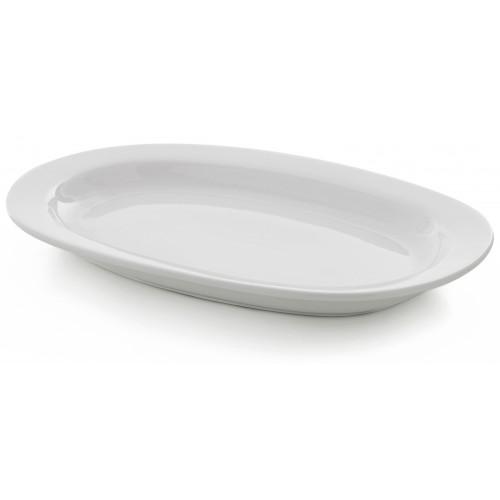 Πιατέλα Κουπ 35x24εκ.  Λευκή Πορσελάνη, Συσκ. 3 τμχ  60-021135, GTSA