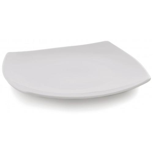 Πιάτο Τετράγωνο Japan 23.5εκ, Λευκή Πορσελάνη, Συσκ. 24 τμχ., 60-121624, GTSA