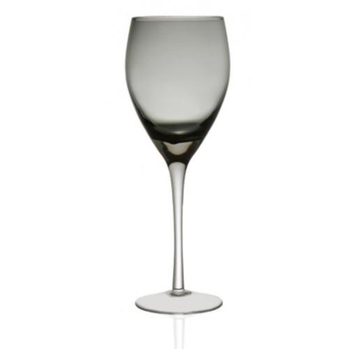 Γυάλινο Ποτήρι Νερού Με Πόδι 350ml, Σετ 6 Τεμ., Irid Smoke, CRYSPO TRIO